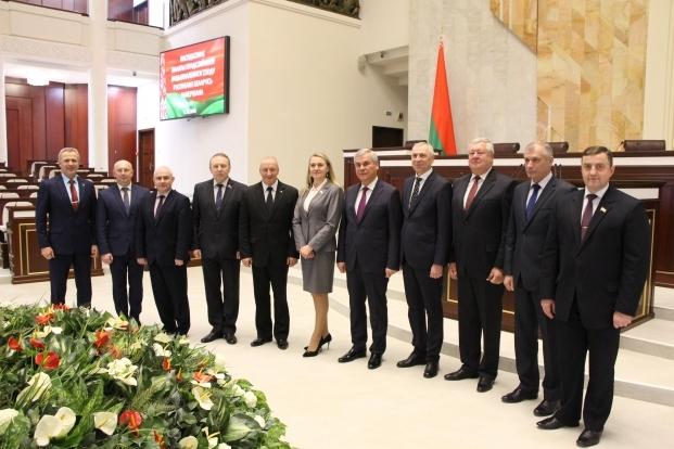 Руководство Палаты представителей с депутатами, членами Постоянной комиссии по национальной безопасности