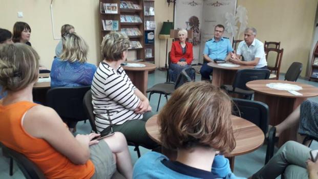 Встреча с работниками централизованной библиотечной системы Лиозненского района